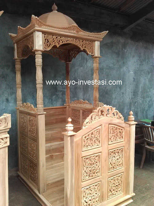 Jual Mimbar Masjid Mimbar Jati Jepara